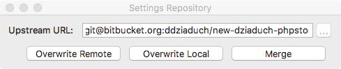 Ustawienia wtyczki Settings Repository
